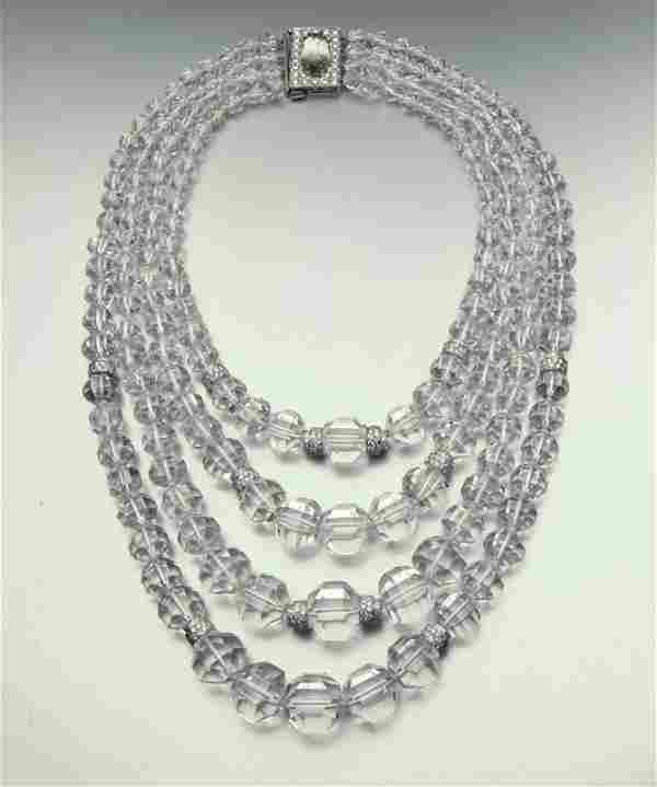 Vintage David Webb crystal & diamond necklace