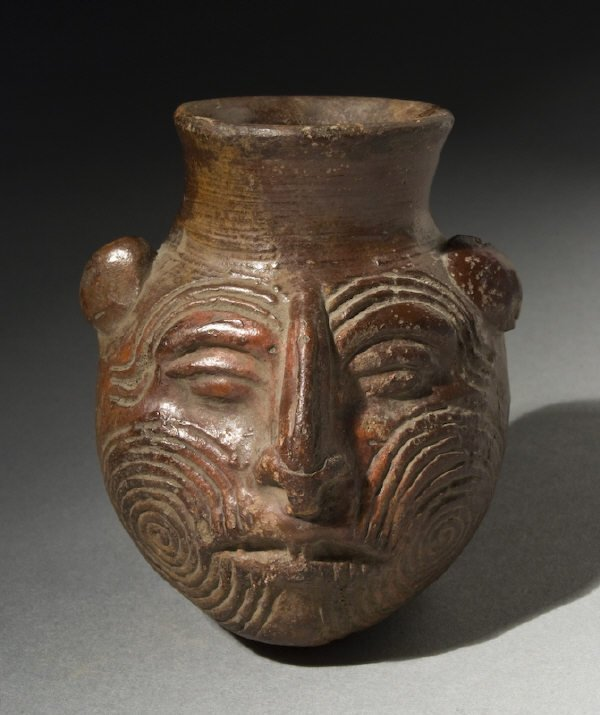"5: Fine Postclassic Mayan plumbate ""poison"" bottle vess"