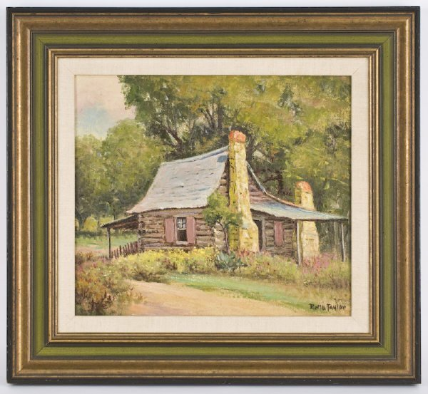 12: Rolla Sims Taylor oil painting on canvas, titled on