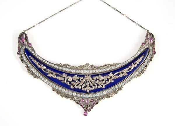 14: Art Deco silver purse handle necklace conversion ha