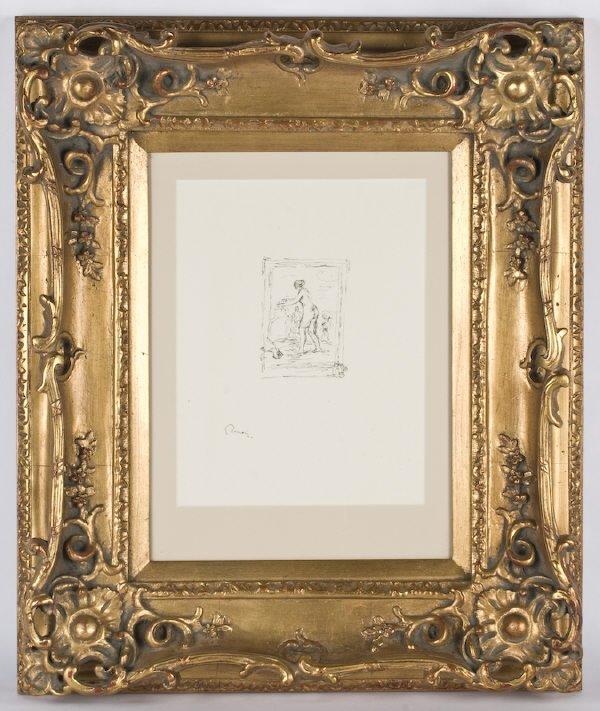 """18: Pierre-Auguste Renoir lithograph, """"Femme au Cep de"""