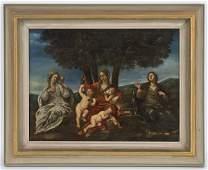 40: Italian school oil painting on canvas,
