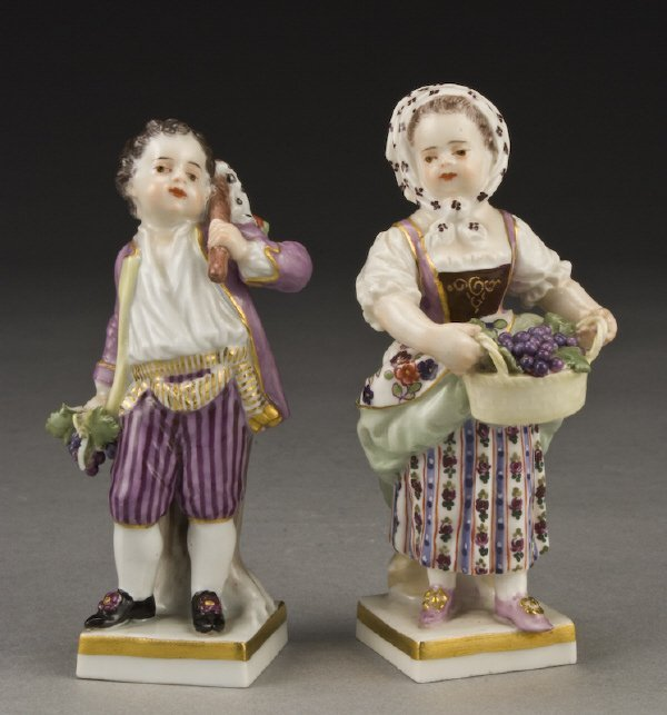 3: Pr. Meissen porcelain figures,