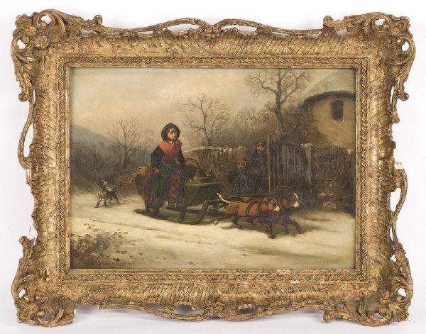 13: Alexis de Leeuw oil painting on panel,