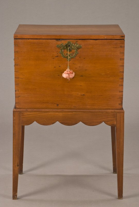 19: American sugar chest on stand,