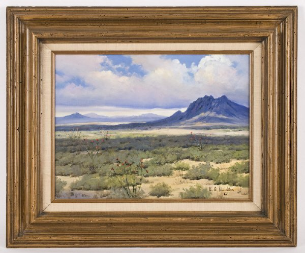 21: William A. Slaughter oil painting on canvas,