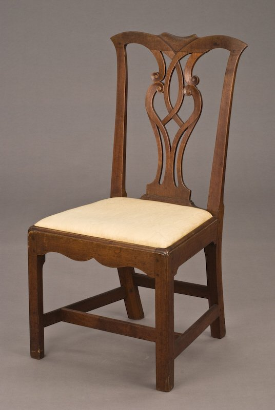 23: Mid Atlantic Chippendale mahogany side chair