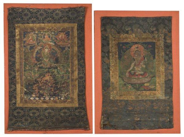 14: (2) Chinese - Tibetan Qing dynasty Thangka