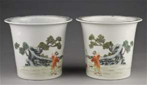 273: Pr. Chinese famille rose porcelain jardinieres