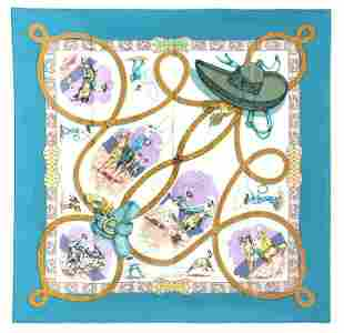 "Hermes ""Charreada"" silk scarf,"