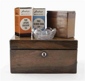 Antique tea caddy,