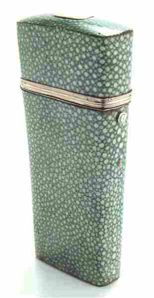 Shagreen cased set of four straight razors