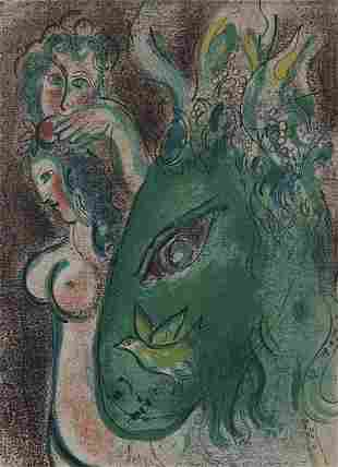 "Marc Chagall ""Garden of Eden"" lithograph."