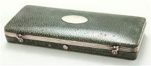 Antique shagreen cased set of surgeon's tools,