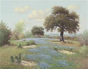 "G. Harvey ""Untitled (Bluebonnet landscape)"""
