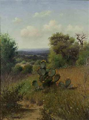 """G. Harvey """"Early Landscape with Cactus"""""""