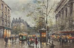 """Antoine Blanchard """"Place de la Madeleine, Marche"""
