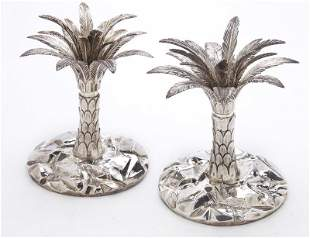 Pr. Tiffany & Co. sterling silver palm tree-form