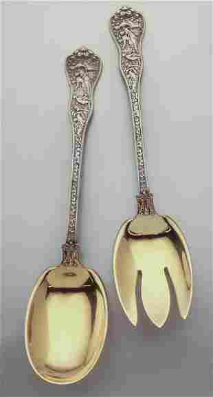 (2) Pc. Tiffany & Co. Olympian sterling silver