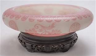 Steuben double acid cut back centerpiece bowl,