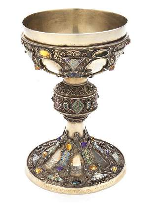 St. Remy early reproduction silver chalice.