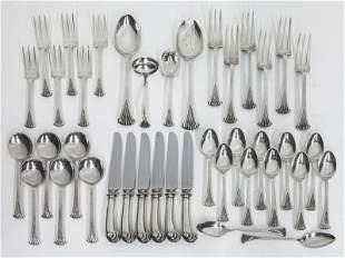 (40) Pcs. Tuttle Onslow sterling silver flatware