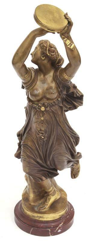 J. Clesinger gilt bronze figure