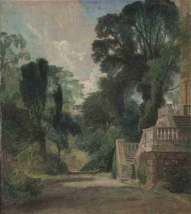 """Attributed to John Constable """"A View Near Dedham"""""""