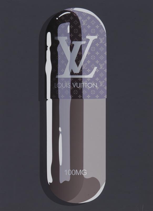 """Denial """"Fashion Addict Louis Vuitton"""" print."""