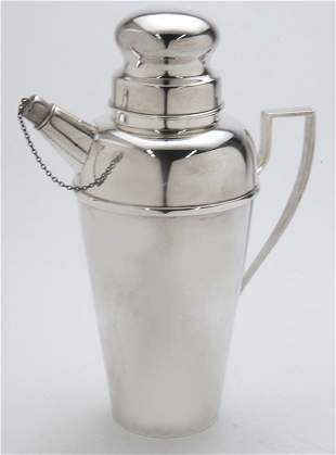 Tiffany & Co. sterling silver cocktail shaker.
