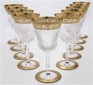 (10) Saint-Louis Thistle pattern goblets,