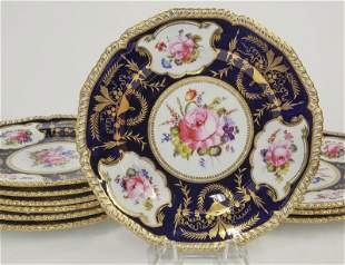 (10) Royal Crown Derby hand decorated plates,