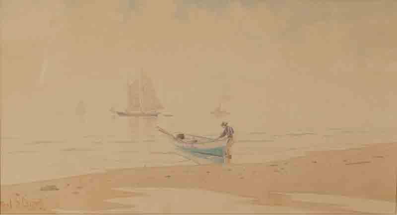 "Frederic Schiller Cozzens ""No Wind/Coming Ashore"""
