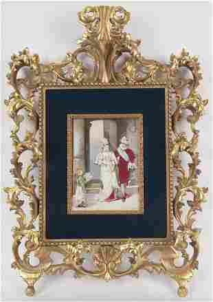 Continental porcelain plaque