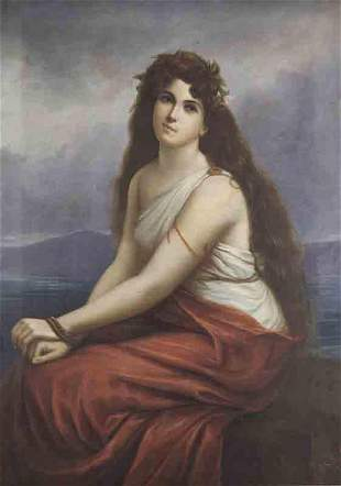 "Rafael Salas ""Greek Slave Girl"" oil on canvas,"