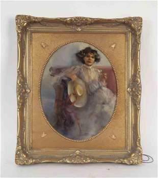 "Flanagan ""Portrait of a Lady"" oil on canvas."