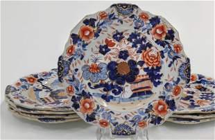 (8) English ironstone plates,