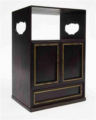 Small Chinese Qing zitan curio cabinet,