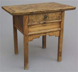 Chinese wood side table,