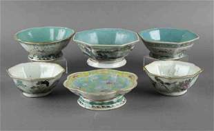 (6) Pcs. Chinese Qing famille rose bowls,