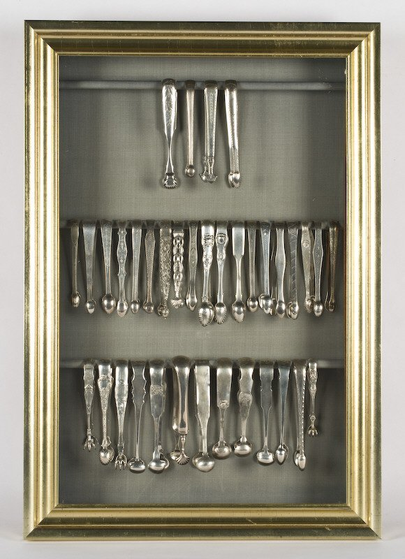 2: (35) American and English silver tongs, sterling