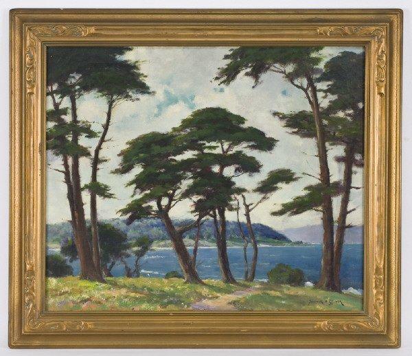 137: Dedrick Brandes Stuber oil painting on canvas,