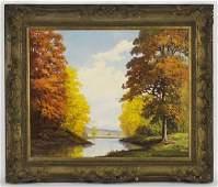 179: Robert William Wood oil painting on canvas,