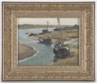 295: Harry van der Weyden oil painting on board,