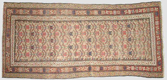 10: C.1920 Serab runner with a brown ground.