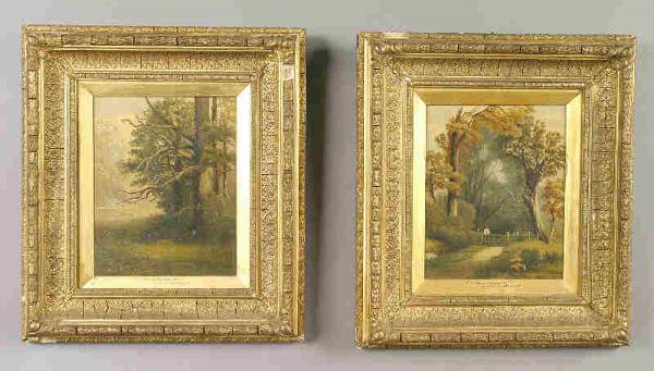 24: Pair of signed W.P. Cartwright oil on canvas,