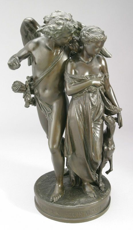 Signed A. Carrier, figural bronze