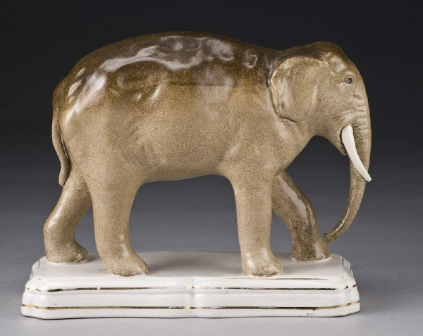 3: Large Victorian Staffordshire elephant figure