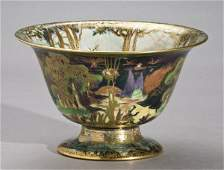 175: Wedgwood Fairyland lustre footed center bowl