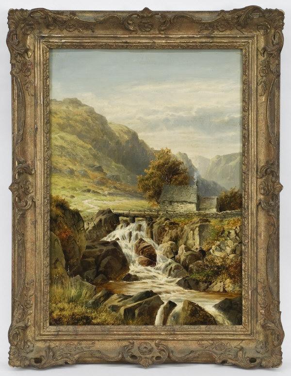 8: William Henry Mander oil painting on canvas laid